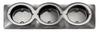 102B3C - Triple Chrome Bracket. Triple Surface Mount Base. To Suite 102 Series. Autolamp.