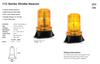 LED Strobe Beacon. Amber Strobe Beacon. Fixed Surface Mount. 45 Flashes Per Minute. Multi-Volt 12v - 110v. Autolamp. 112ABM.