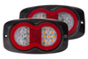 New Rear Tail Light Kit, Zion Park Light with Stop, Indicator, Reflector and Licence Plate Light. Black Mounting Base, Twin Pack