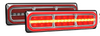 3854ARRM-2 - Combination Tail Light. Medium Tray & Truck Series Light. Diffused Tail Function with Outer Ring. Sequential Indicator. Clear Lens. Stop, Tail, Indicator and Reverse Lights. Twin Pack. Multi-Volt 12v & 24v. Autolamp.  Ultimate LED.