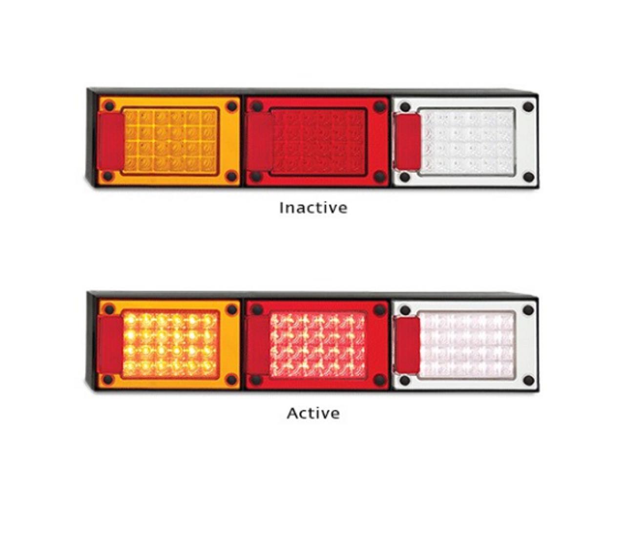 AL1729  J3BARWM Stop, Tail, Indicator, Reverse Light with Reflectors  Multivolt 12-24v Blister Single Pack - LED Auto Lamps J3BARWM