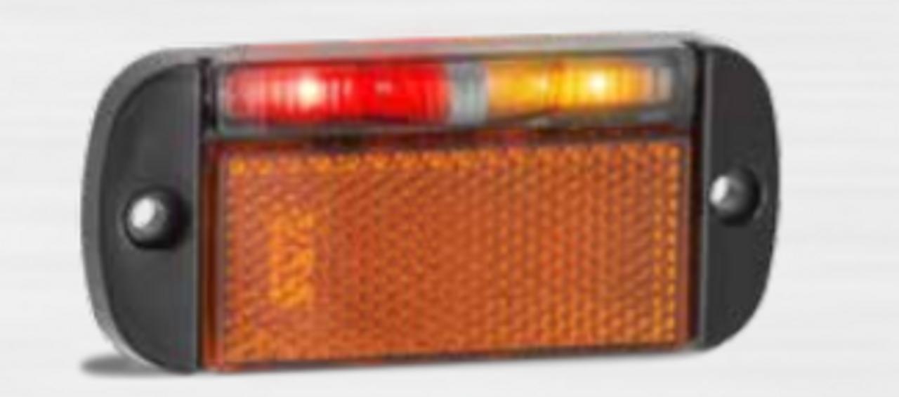 44ARMLB - Side Marker Light with Reflector Left Side Multi-Volt 12v & 24v Single Pack. AL. Ultimate LED.