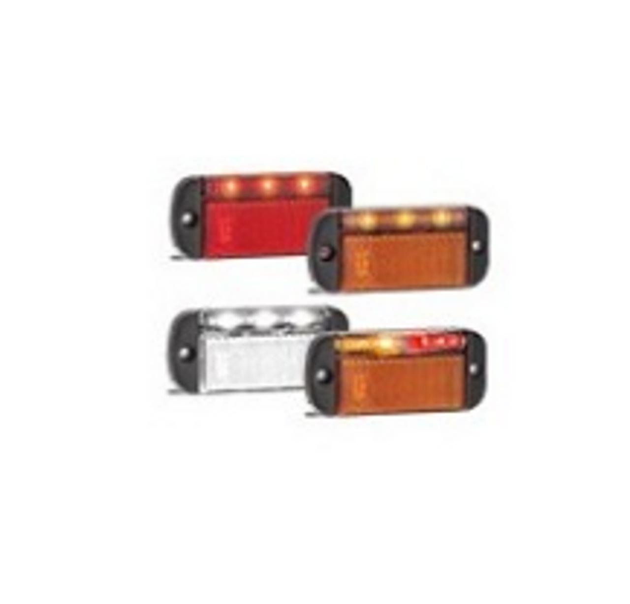 44 Series - 44ARMLB - Side Marker Light with Reflector Left Side Multi-Volt 12v & 24v Single Pack. AL. Ultimate LED.