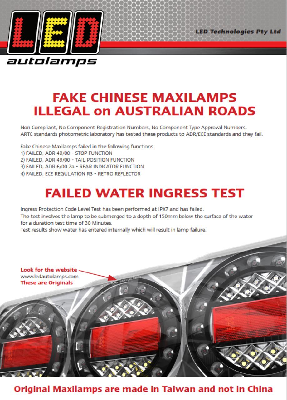 Genuine Maxilamp with Genuine Warranty, An Australian Company