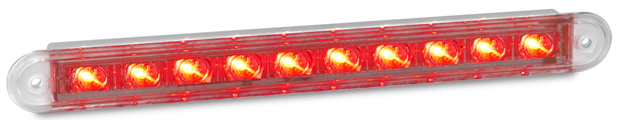 235CR12 - Stop & Tail LED Light. Twin Function Lamp 12v. Clear Lens & Red LED. LED Auto Lamps. Ultimate LED.