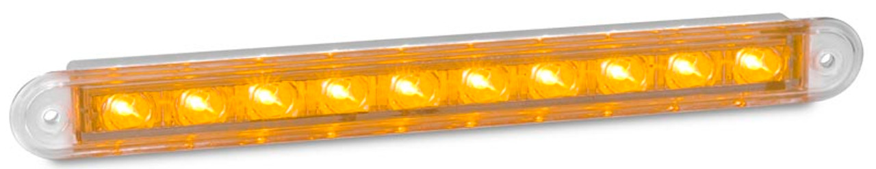 235CA12 Indicator 12v Single light Clear Lens, Amber LED. AL Ultimate LED.