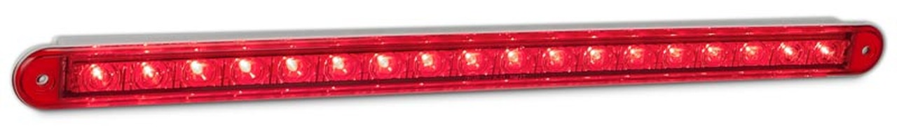 380R12 Stop Tail LED Light. Twin Function. 12v Single light Coloured Lens. AL. Ultimate LED.