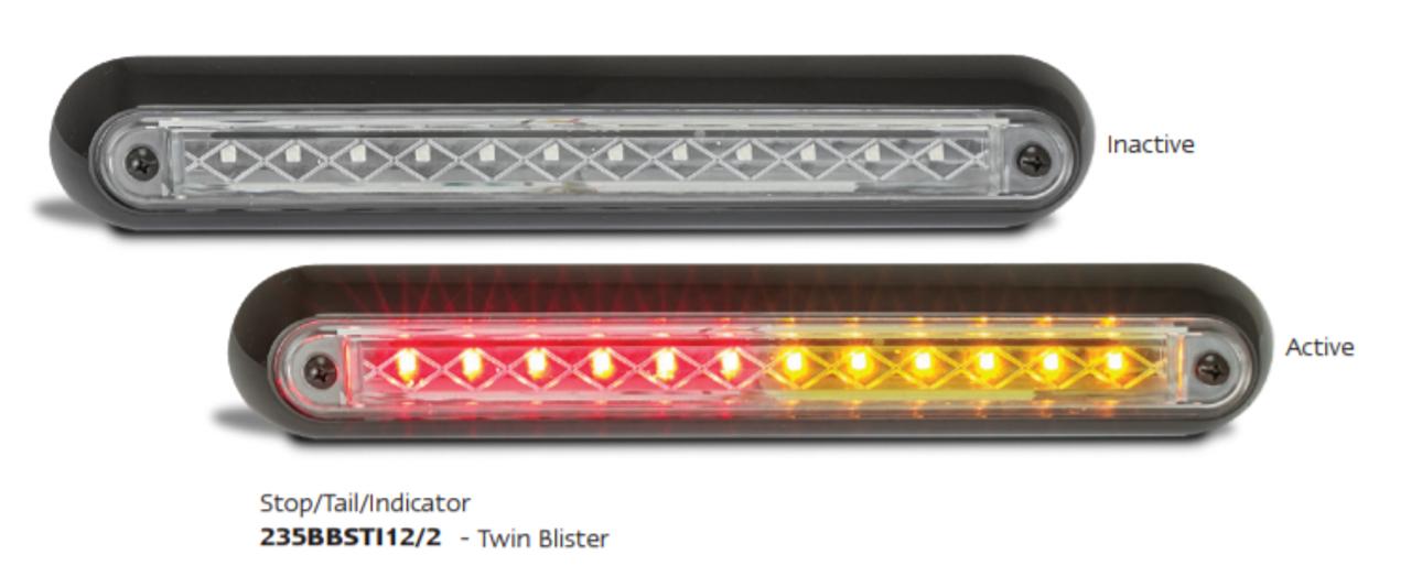 235BBSTI12/2 Stop Tail Indicator 12 volt Twin Pack, Black Housing. AL Ultimate LED.