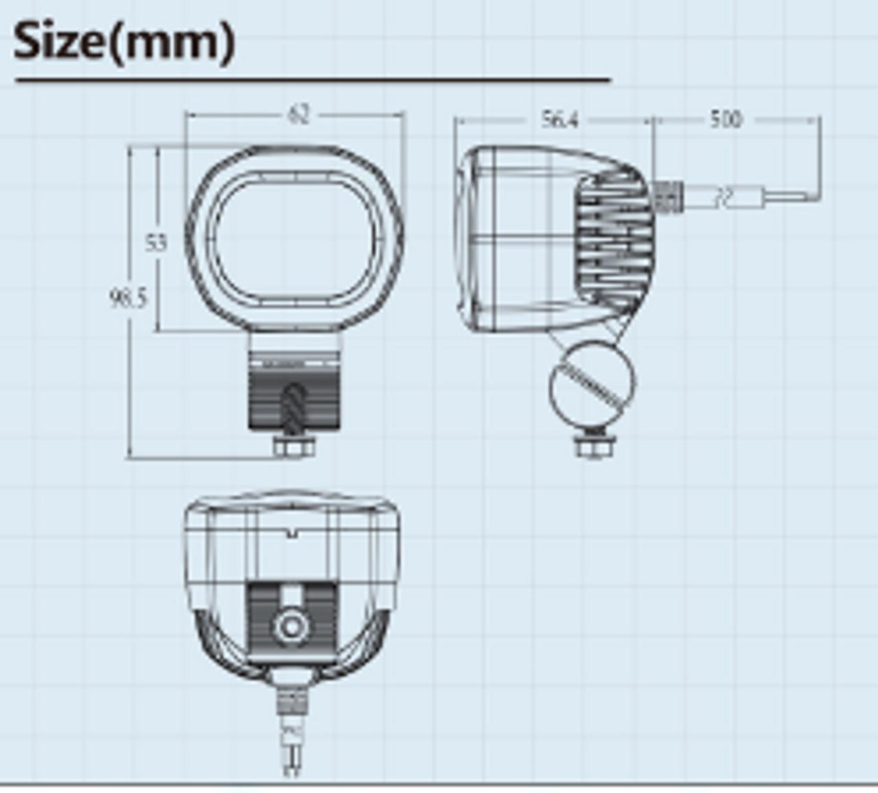 Dimension - 62 x 53 x 57mm. Weight 0.20kg