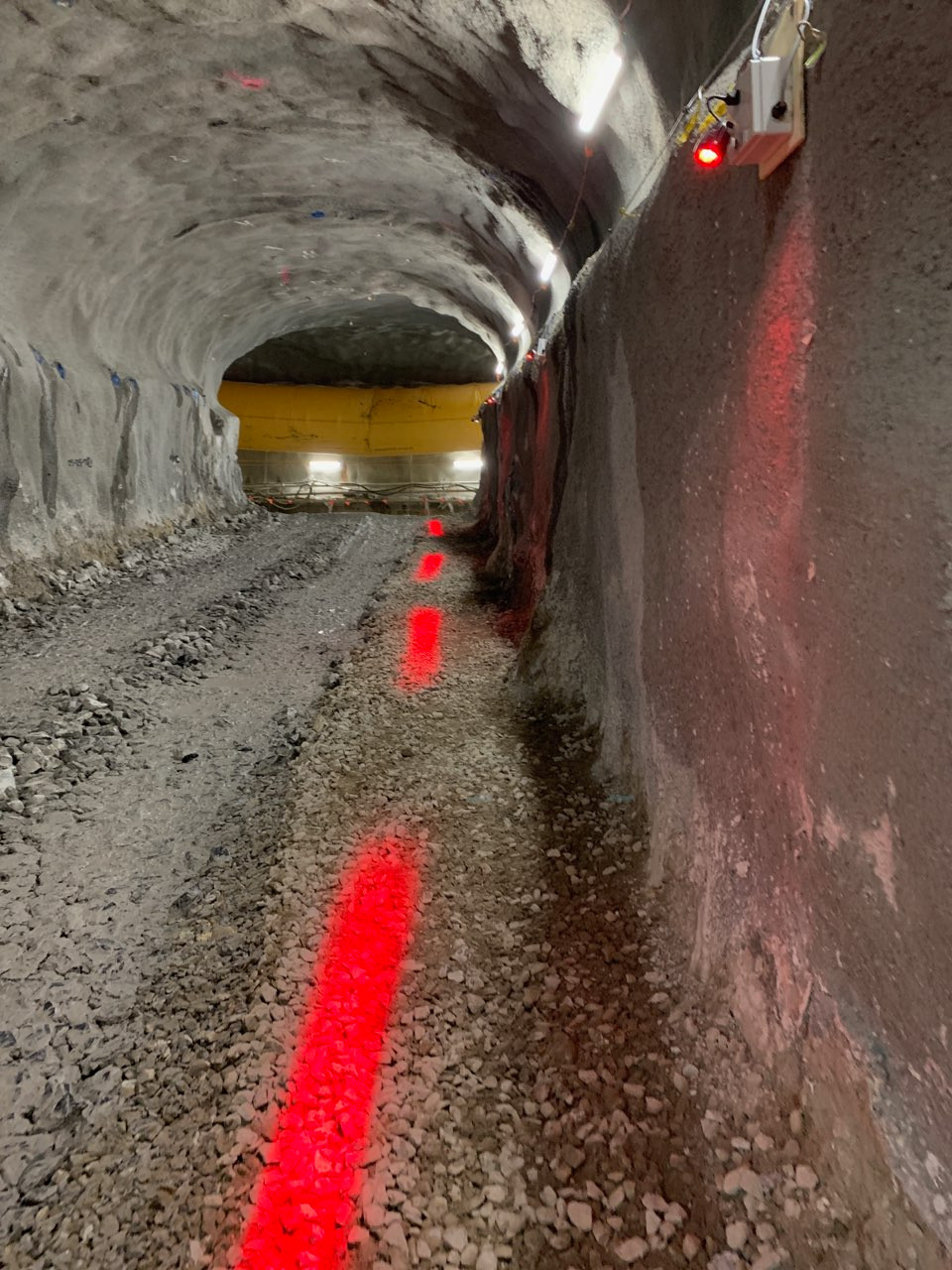 Underground Tunnel Safety Zone Lighting