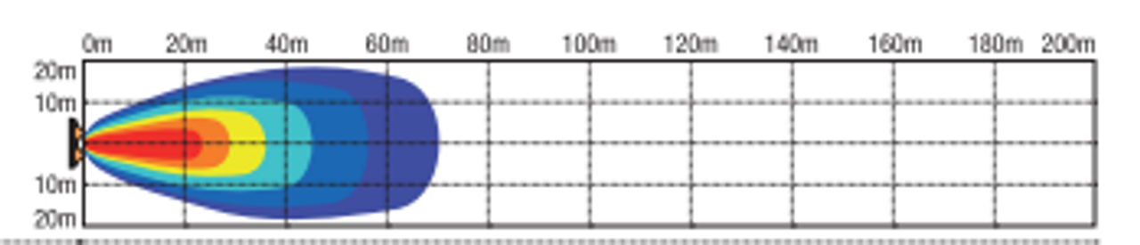 Light pattern - RWL215F - 2.5 Inch Square LED Flood Work Light. Multi-Volt 10v & 30v. 15 Watt. RoadVision. Ultimate LED.