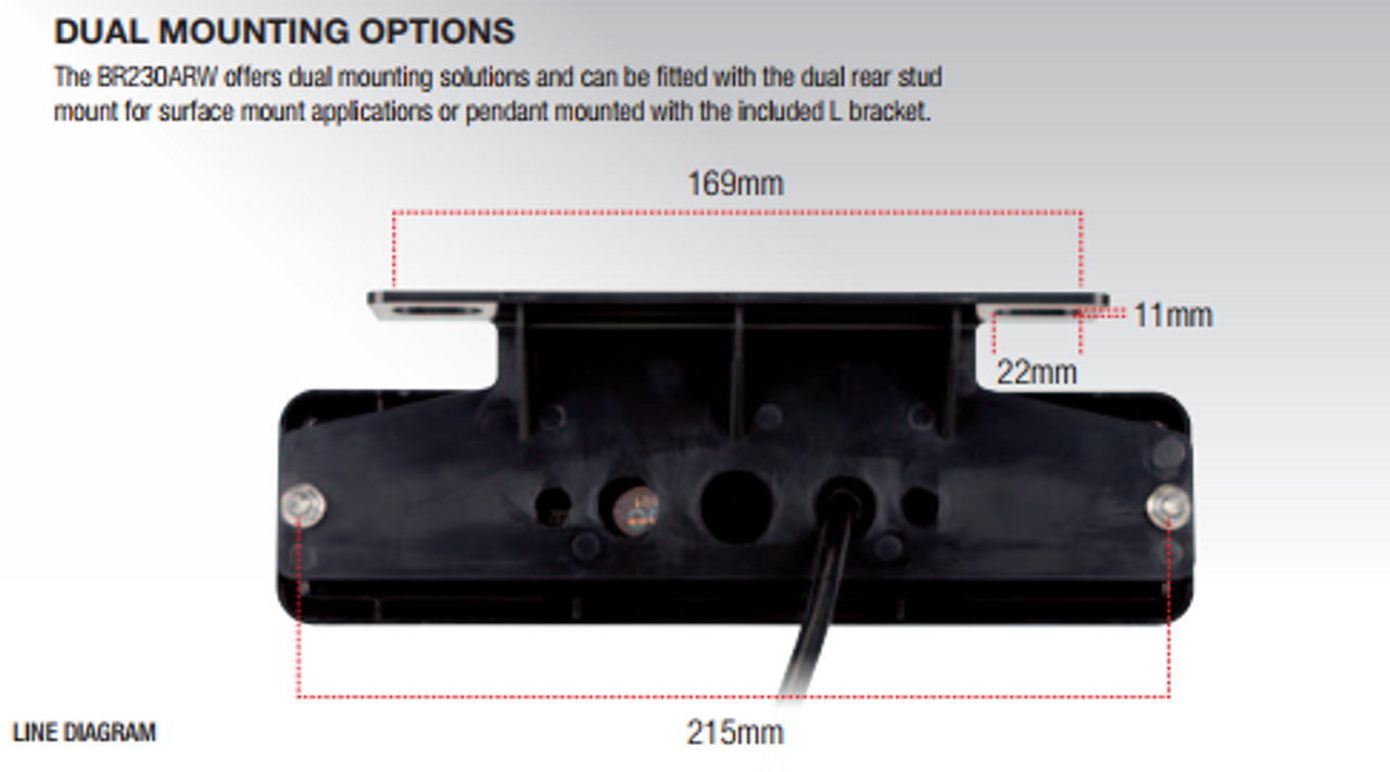 BR230ARW Tail Light Mounting Bracket included with the light. Ultimate LED