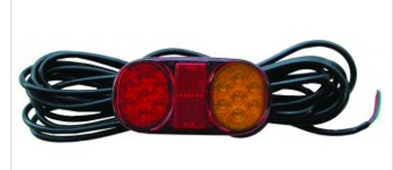 Roadvision LED Boat Trailer Tail Light Kit. Includes Licence Plate Light. Submersible LED Tail Lights. Multi-Volt, 12v & 24v Systems. Surface Mount. 7.2m Lead each Light. 7 Pin Male Trailer Plug also Supplied. No joint subjected to water.  Proven, Reliable and Tough Boat Trailer Light. Ultimate LED