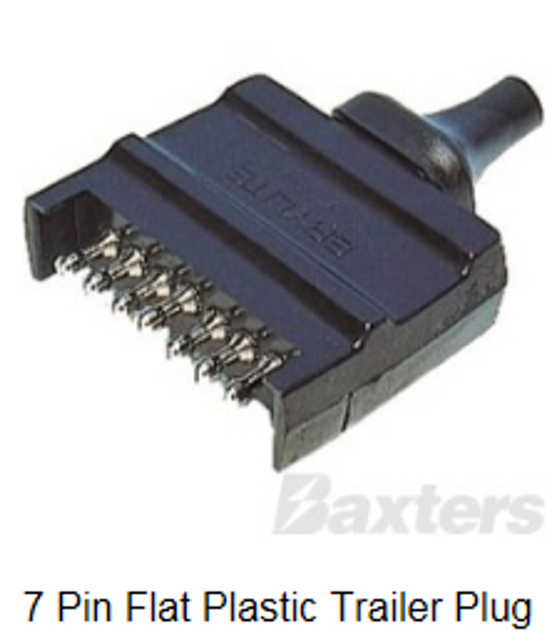 Trailer plug also supplied. 7 pin male flat trailer plug x 1