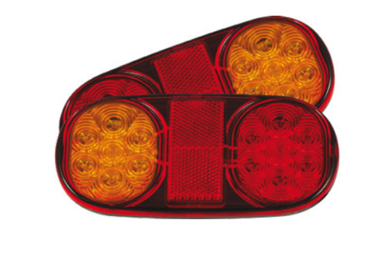 Roadvision LED Boat Trailer Tail Light Kit. Includes Licence Plate Light. Submersible LED Tail Lights with side marker lights. Multi-Volt, 12v & 24v Systems. Surface Mount. Heat Shrink also Supplied. Proven, Reliable and Tough Boat Trailer Light. Left x 1. Right x 1. Ultimate LED