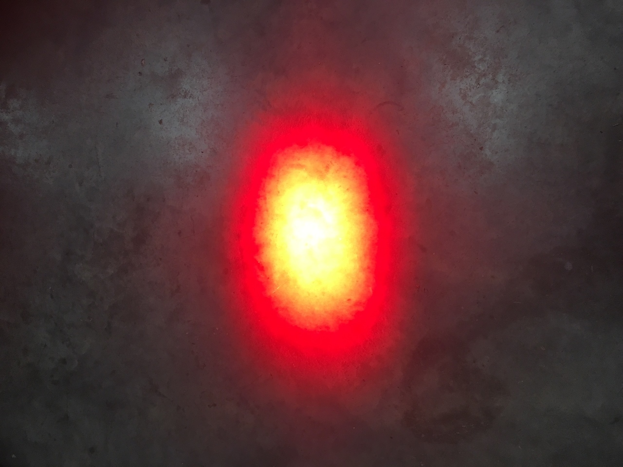 Overhead Red Beam Spot Pattern