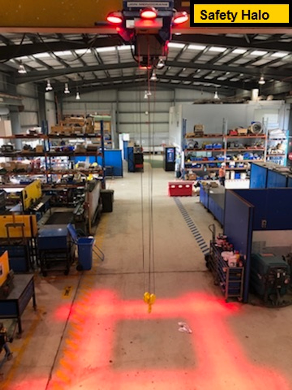 Installation of our Overhead Crane Awareness Light System in Queensland