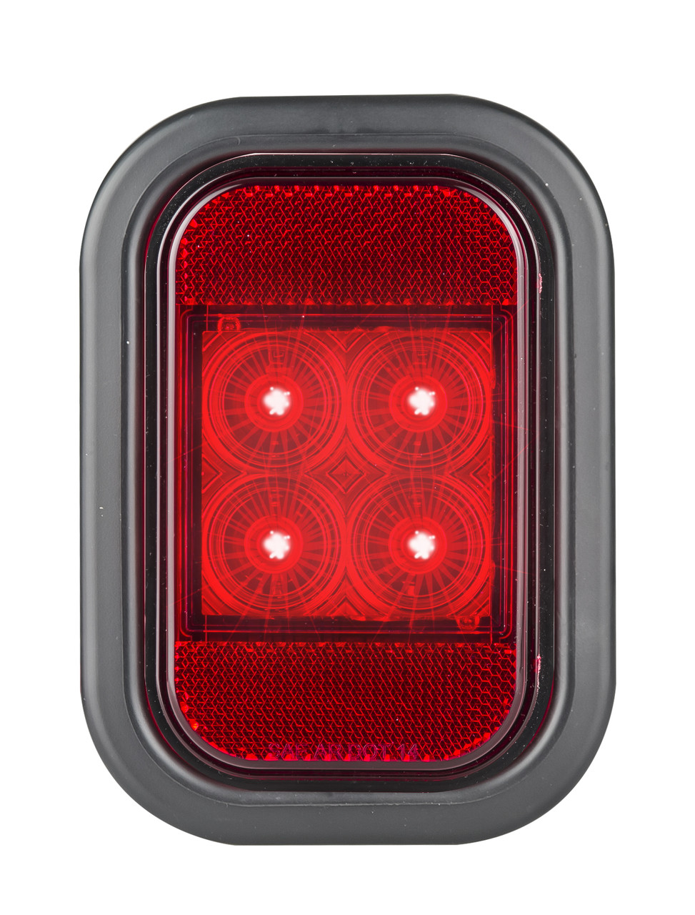 Active - 133RMG - Stop Tail Light with Reflector, Rectangle. Multi-volt Single Pack. AL. Ultimate LED.