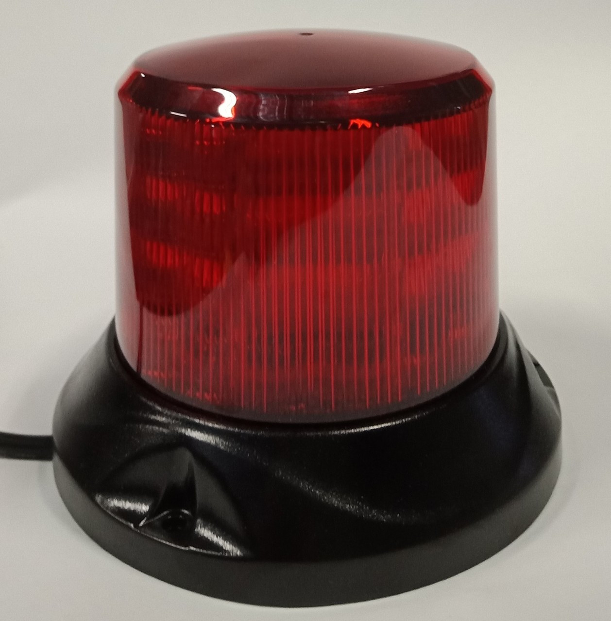 RB132MR - Mini Profile, Red Safety Rotation and Strobe Beacon. Magnet Mount.  Mini Revolver, 15 watts RB132MR. Roadvision. Ultimate LED.