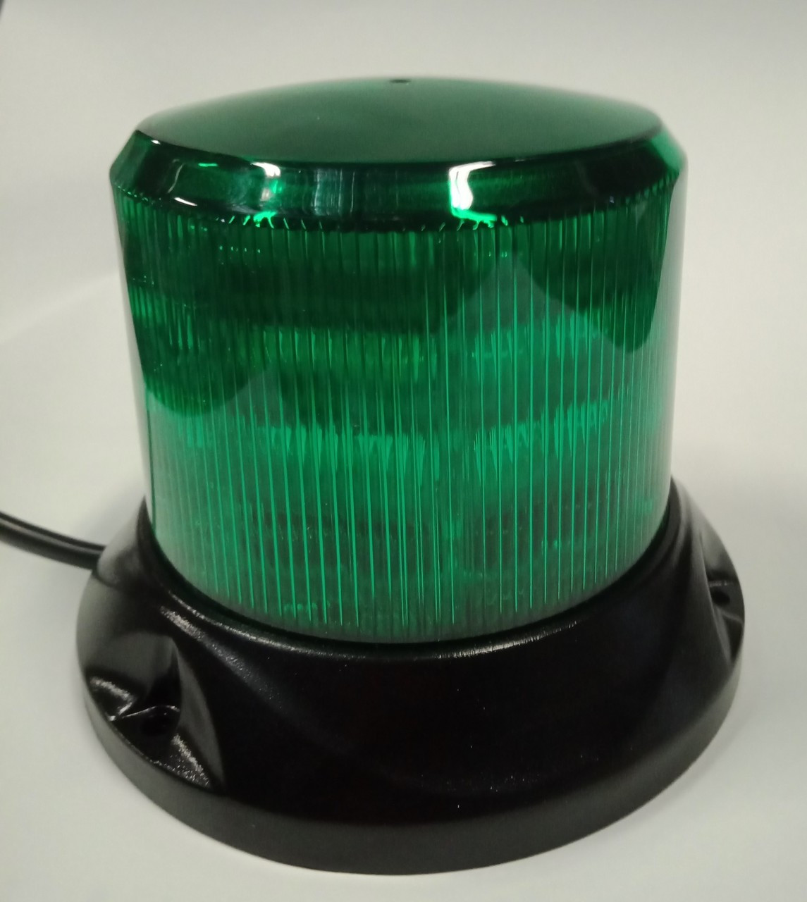 RB167G - Green Safety Rotation and Strobe LED Beacon. Fixed Mount.  Maxi Revolver, 15 watts RB167G. Roadvision. Ultimate LED.