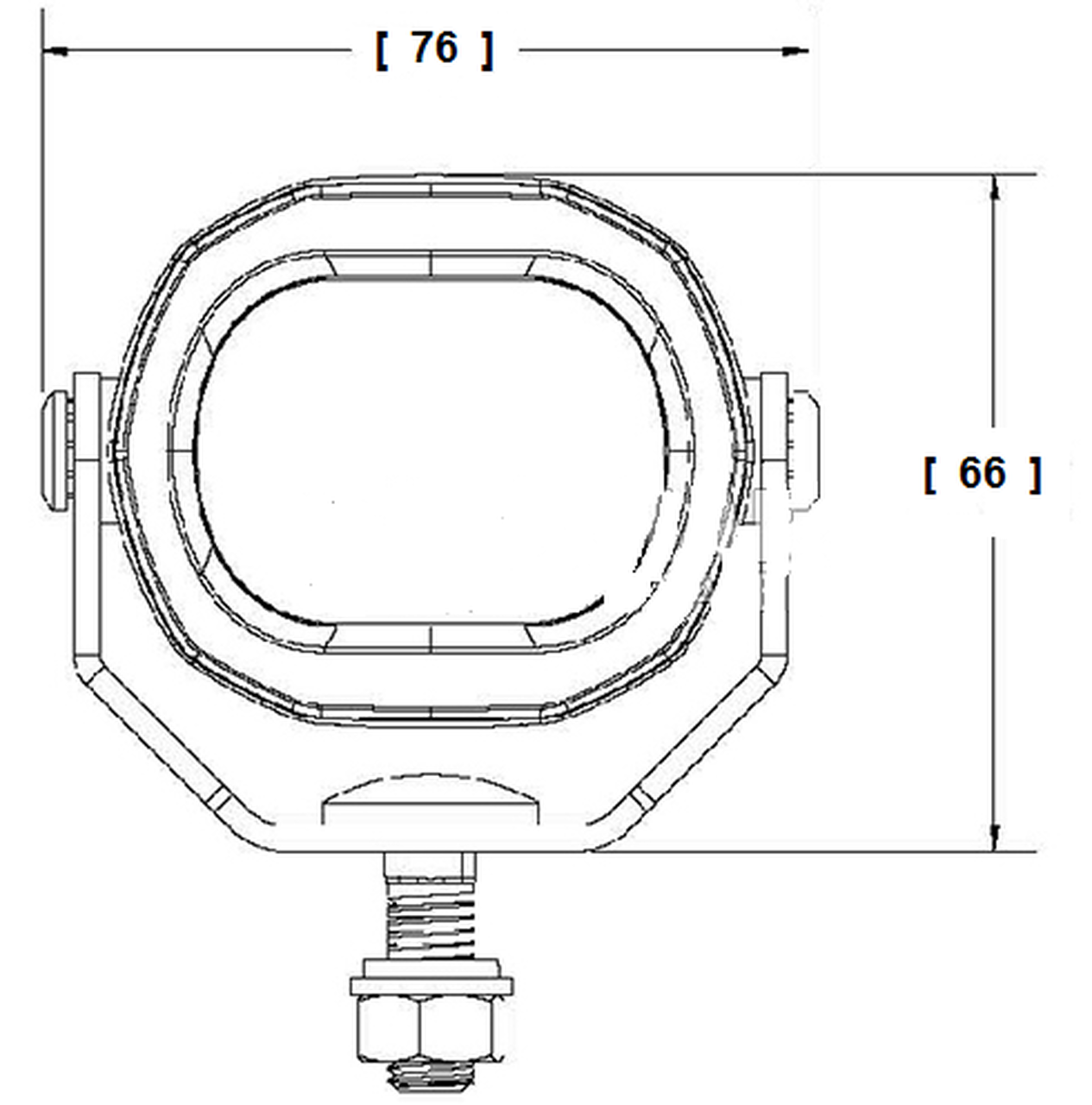 Dimension: 66 x 76 x 67mm