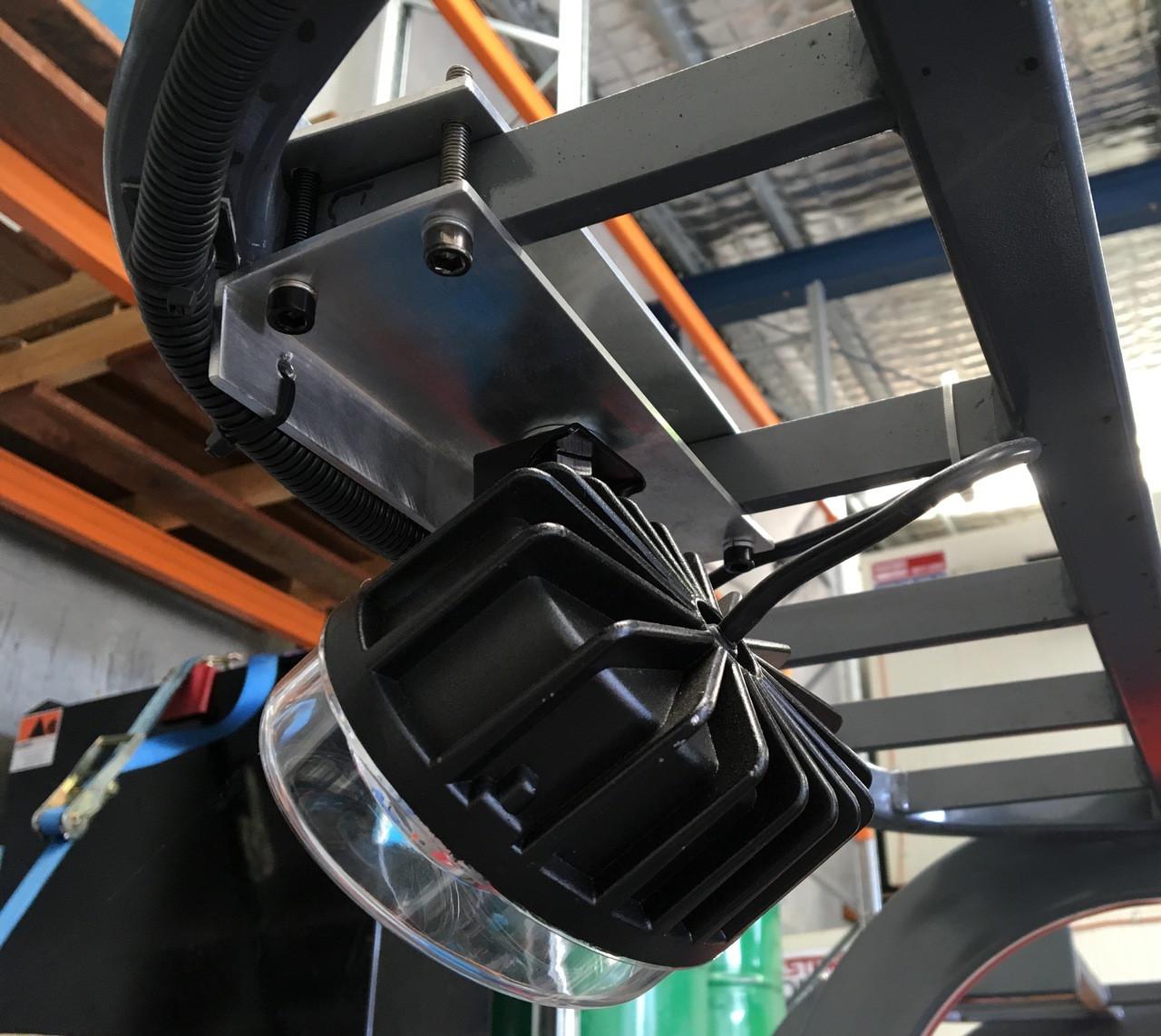 Red Forklift Safety Light, Mounting Option. Ultimate LED