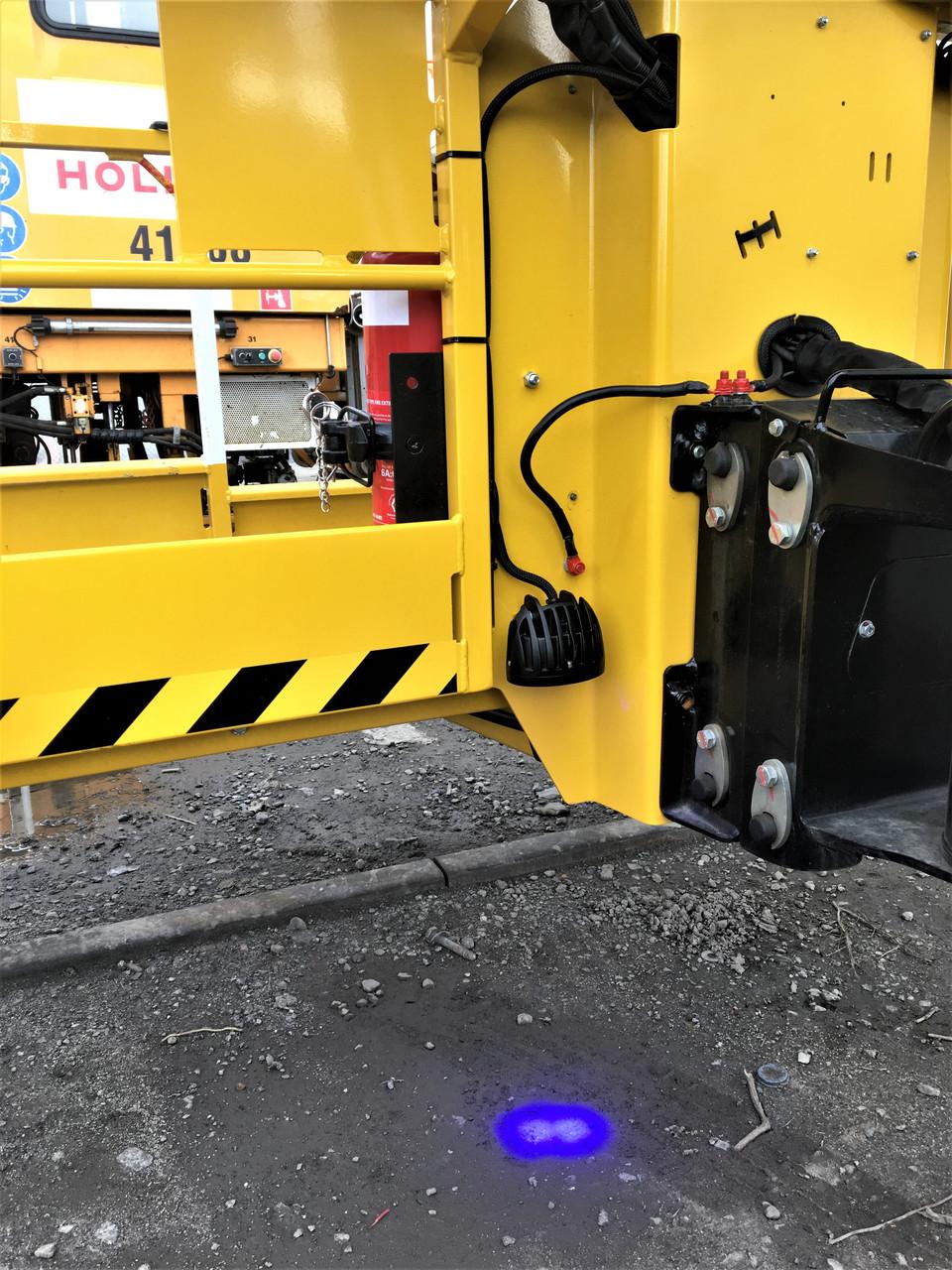 1. Blue Forklift Warehouse Pedestrian Safety Light. Forklift Blue Spot Awareness Light. Workplace Pedestrian Safety Light. 10 watts. Ultimate LED. Australia. FLBS-10