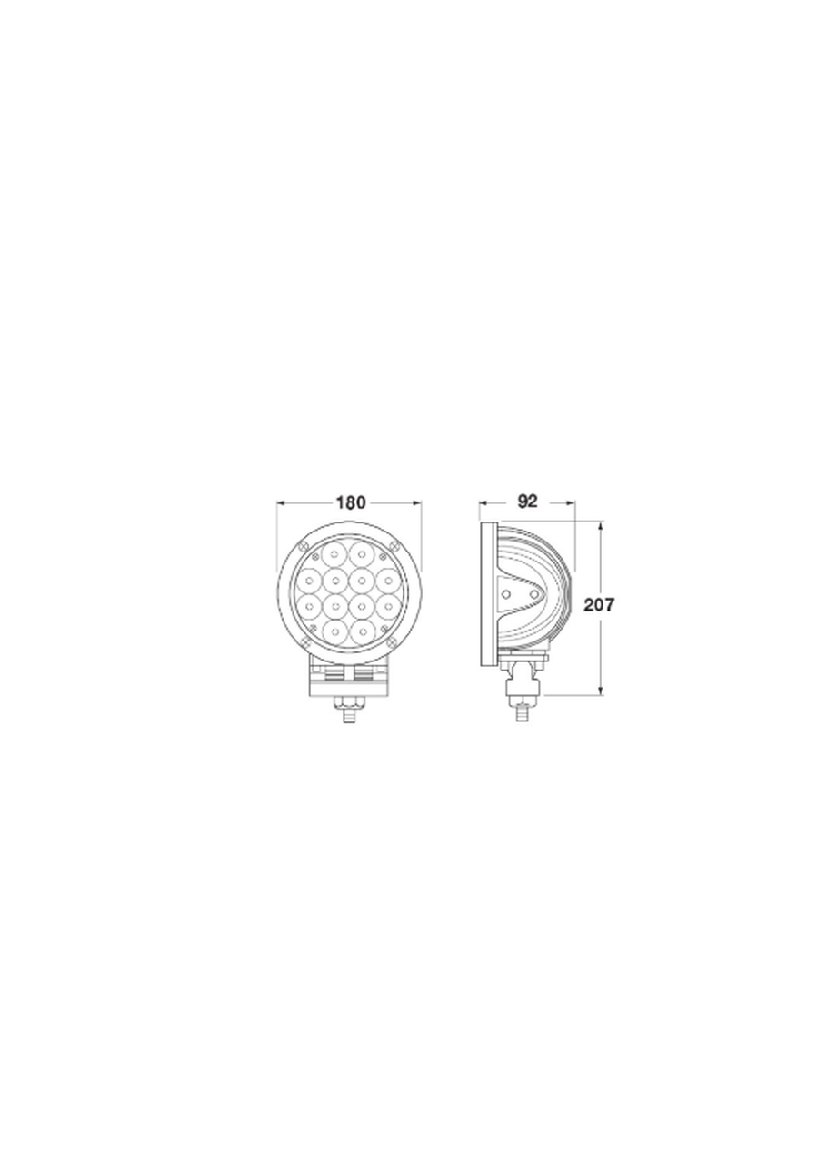 Line Drawing: LS9571 - Spot Beam Driving Light. Jaylec. CD. Ultimate LED.
