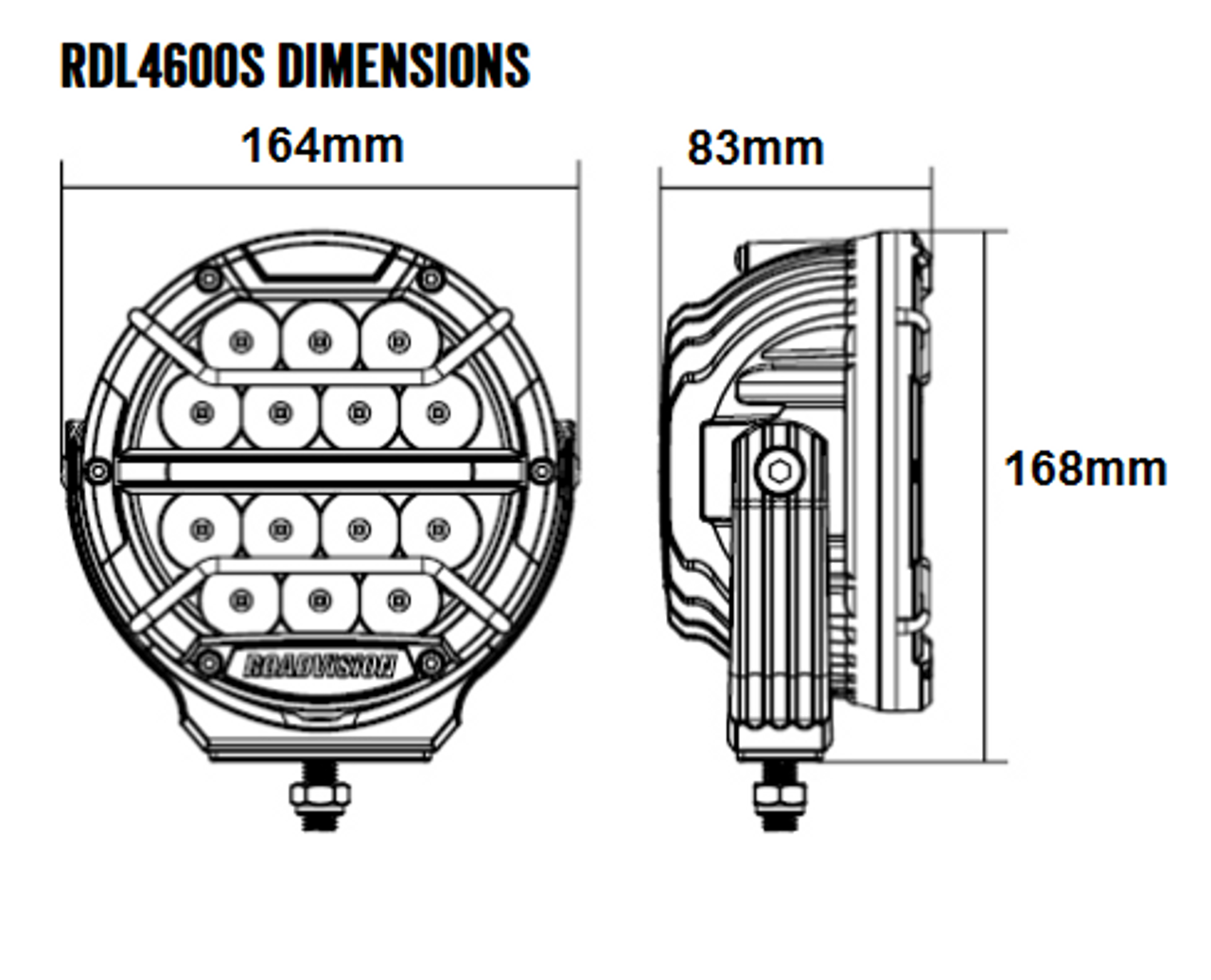 Dimensions of the 6 inch Dominator