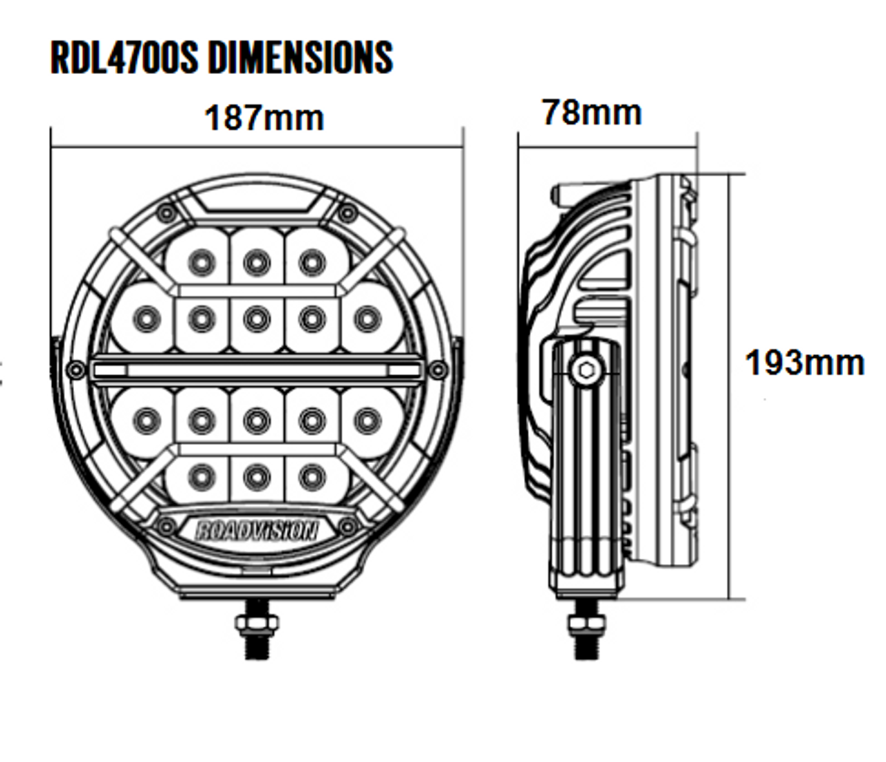 Dimensions of the 7 inch Dominator