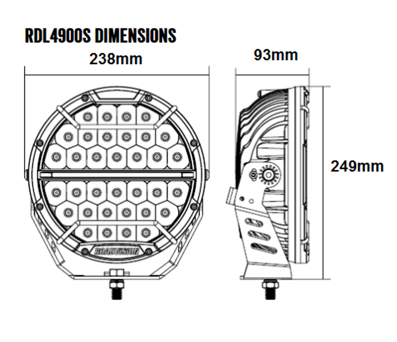Dimensions of the 9 inch Dominator