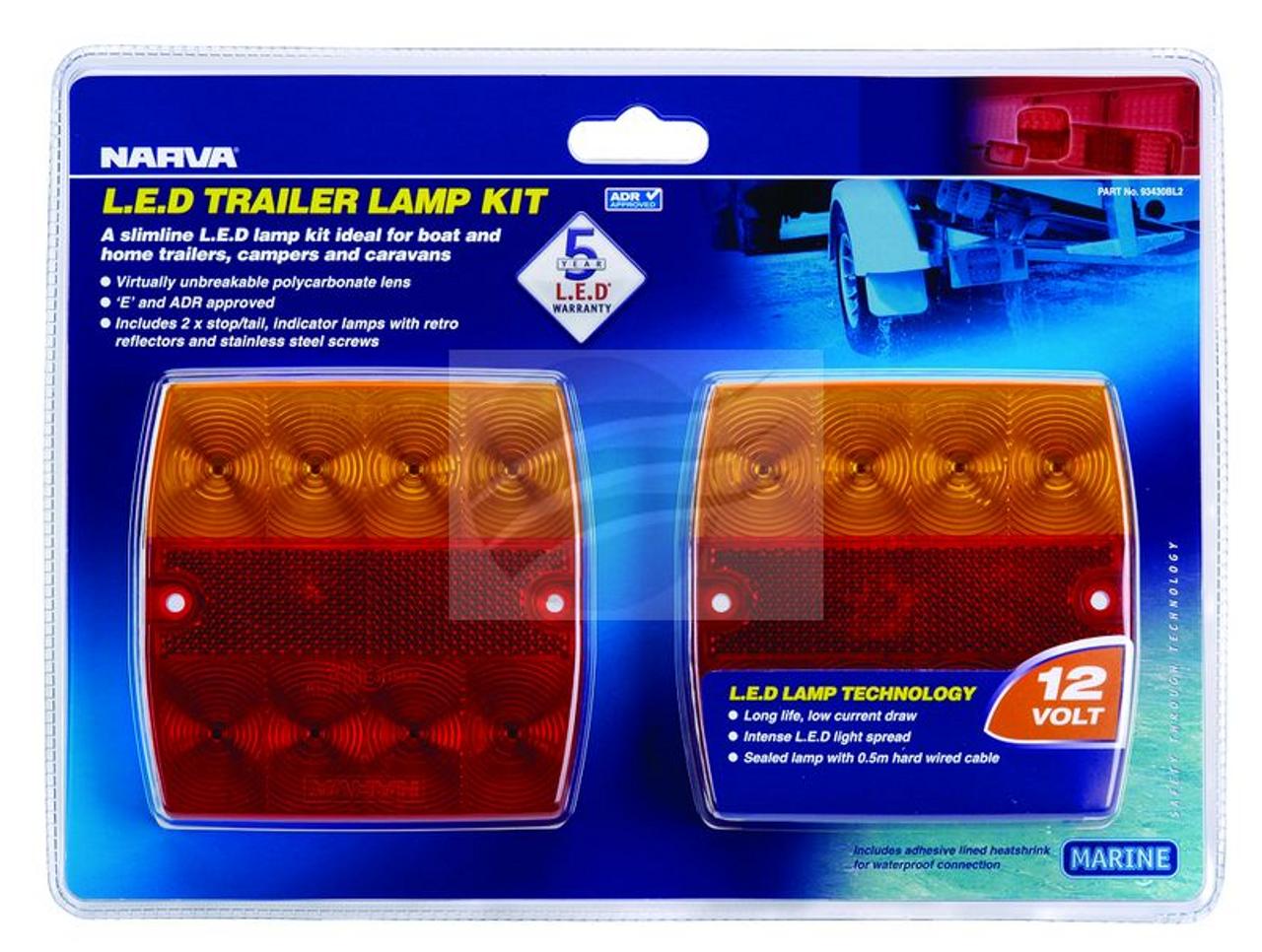 93430BL - Narva Model 34 LED Combination Stop Tail Indicator Light 12V Twin Pack. Narva. CD. Ultimate LED.