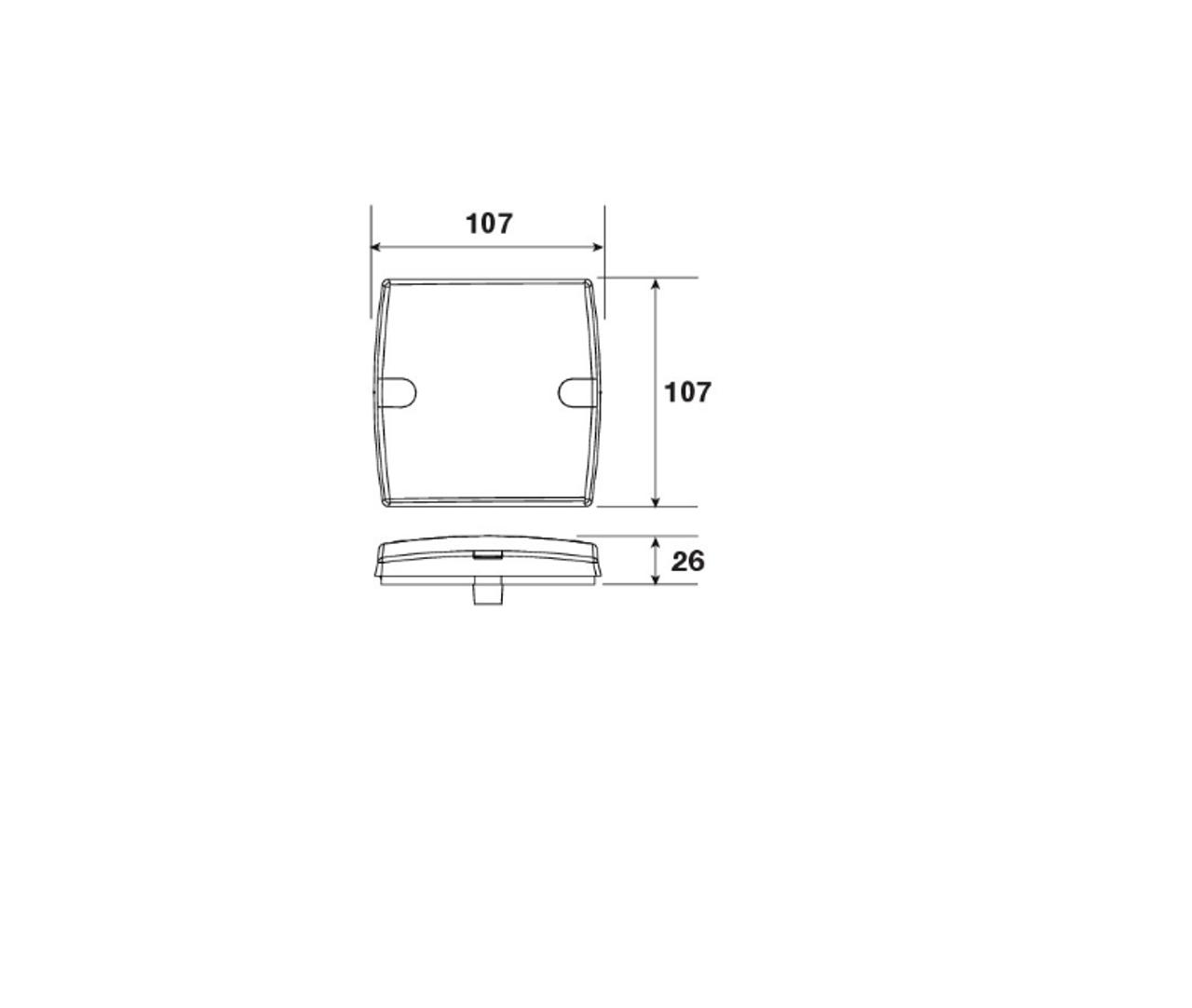 Line Drawing - 93430BL - Narva Model 34 LED Combination Stop Tail Indicator Light 12V Twin Pack. Narva. CD. Ultimate LED.