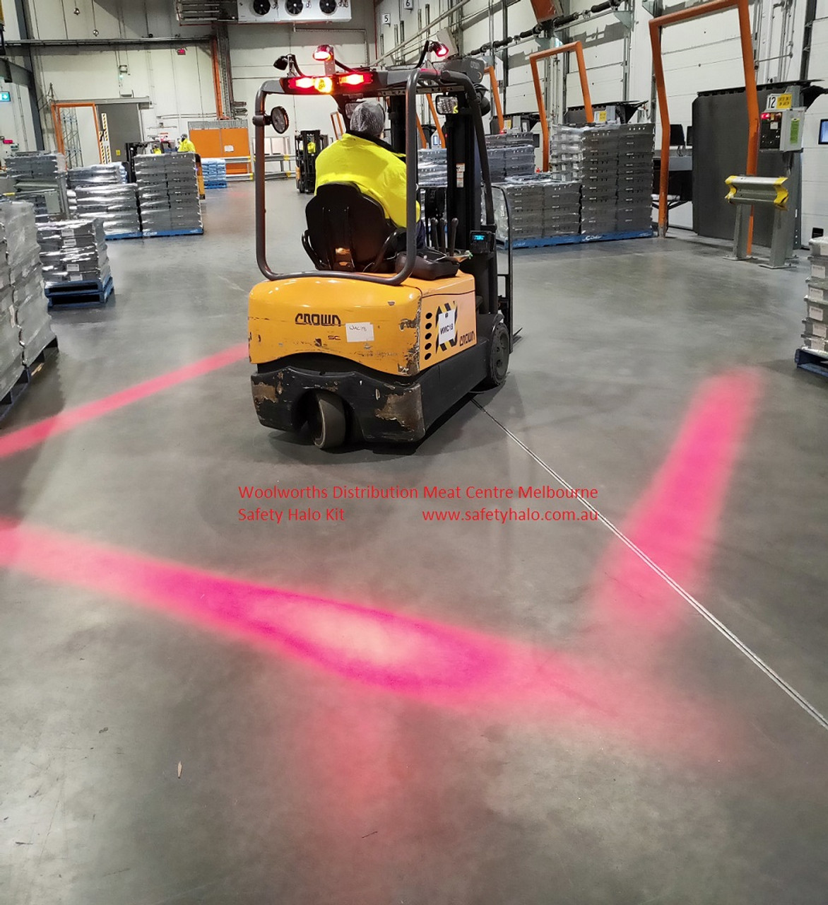 Safety Halo System Hilton Foods Forklift Ultimate LED