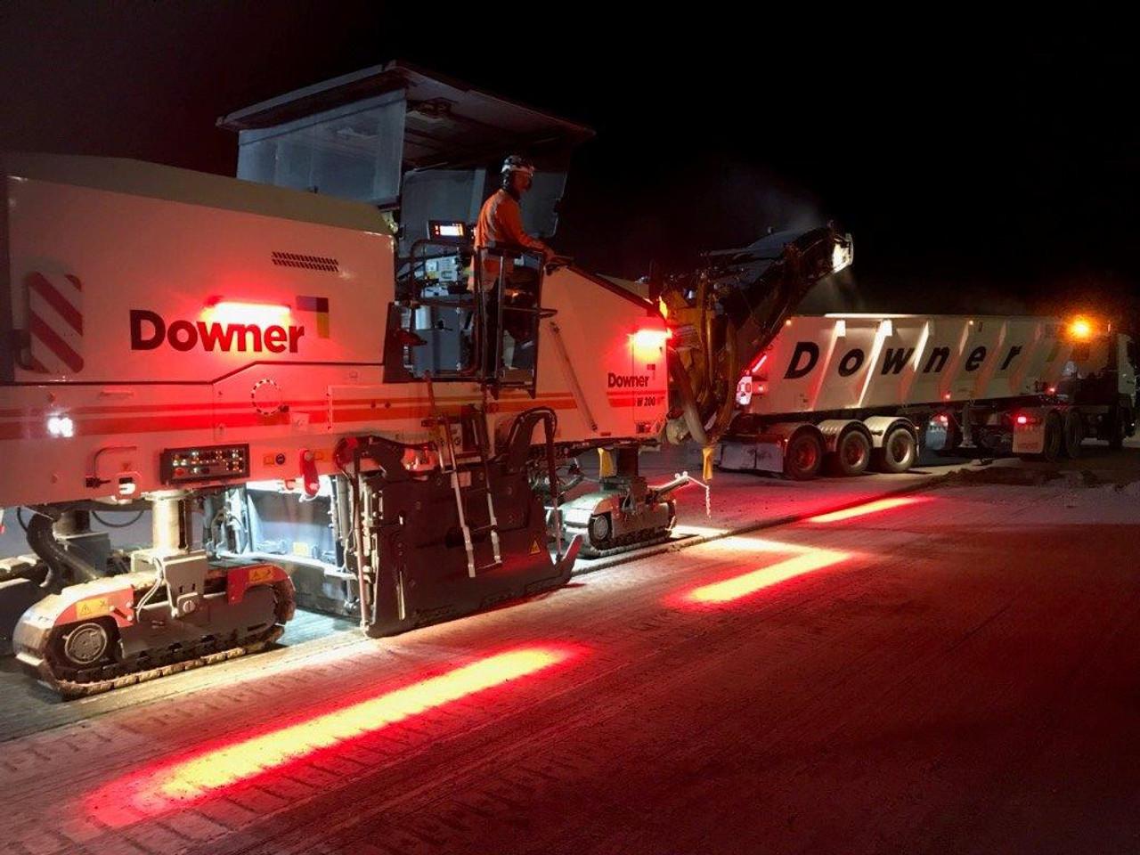 Road Profiler Safety Halo Lighting System