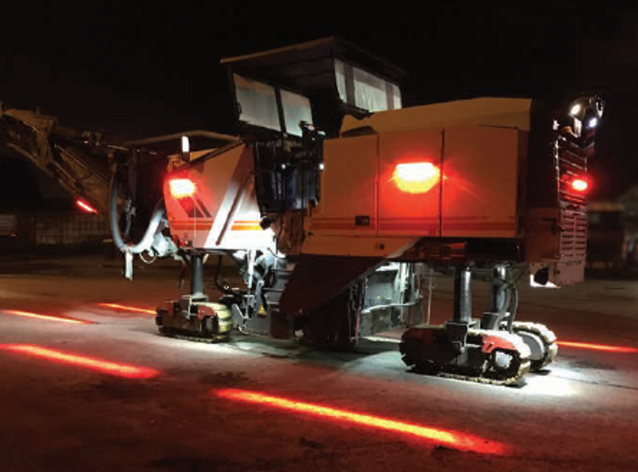 Road Profiler Night Work Safety Halo Protection System