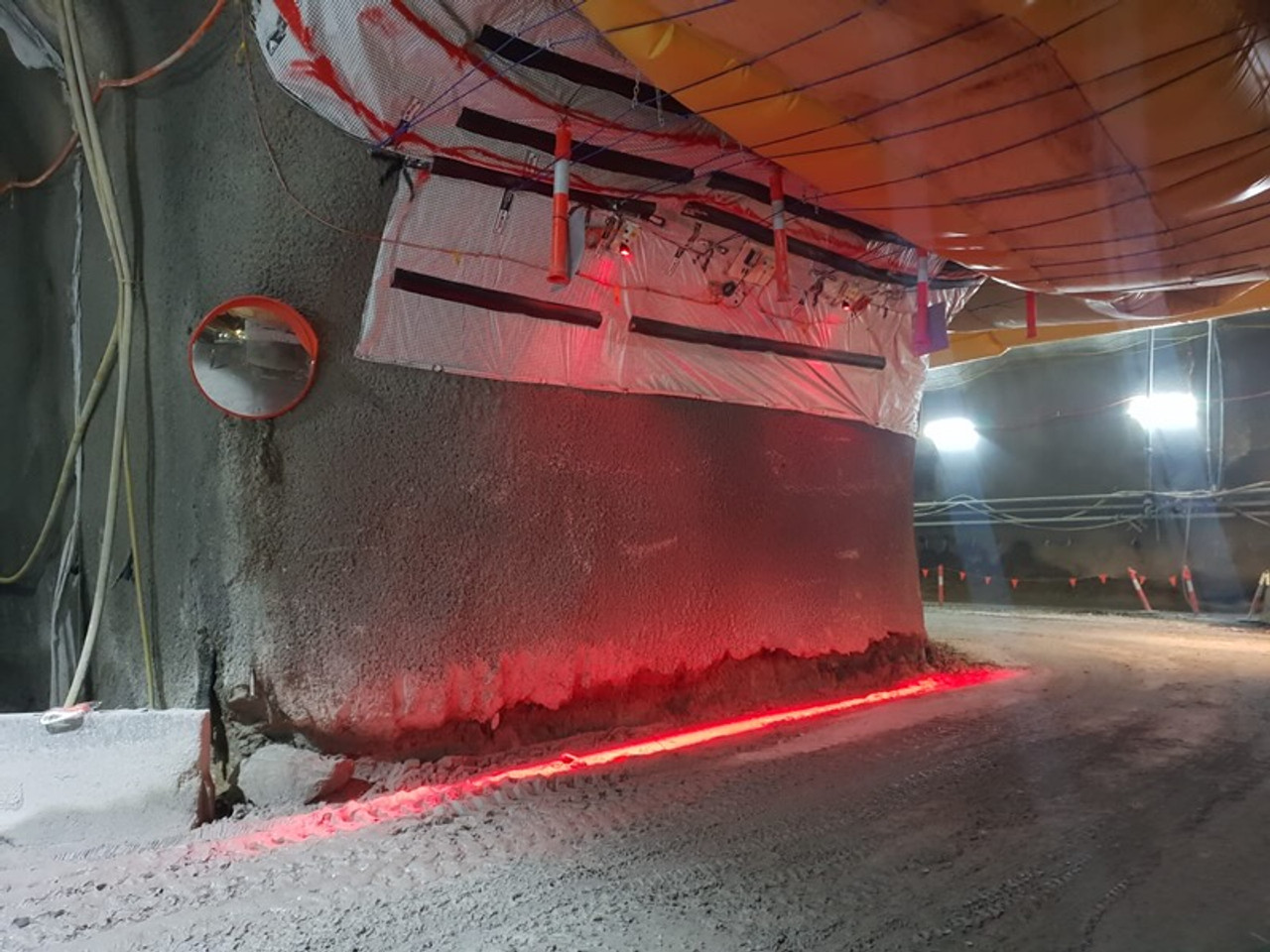 Safety Halo Lighting to Create Safe Area's in Tunnel Work Construction, Mining Work ETC. Safety Halo Created by Ultimate LED Australia