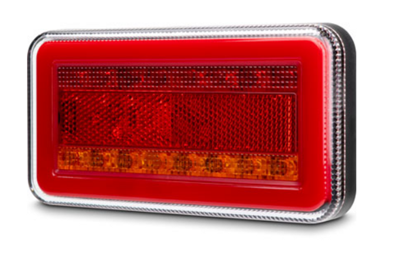 BR151LR Stop, Tail, Indicator LED Tail Light. Zion Glow Park Light with Sequential Indicator & Reflector. Twin Pack. Multi-Volt, 12v & 24v DC Systems. New Stylish & New to the Market BR151LR. Roadvision. Amazing Light for its size. 5 Year Warranty