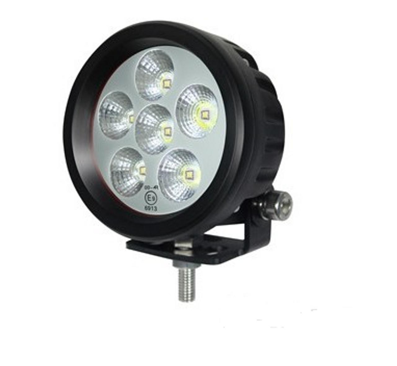 RWL9518F - 90 mm Round LED Flood Work Light. 18 Watt. Multi-Volt 10 to 30 Volt DC. 5 Year Warranty. RoadVision. RWL9518F.