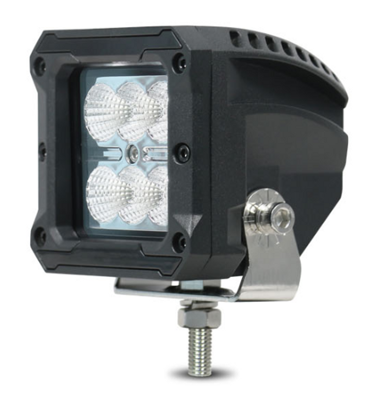 RWL3420F - 4 Inch Square LED Flood Beam Work Light. 20 Watt. Multi-Volt 10 to 30 Volt DC. 5 Year Warranty. Flood Beam 20 watts. Roadvision. Ultimate LED.