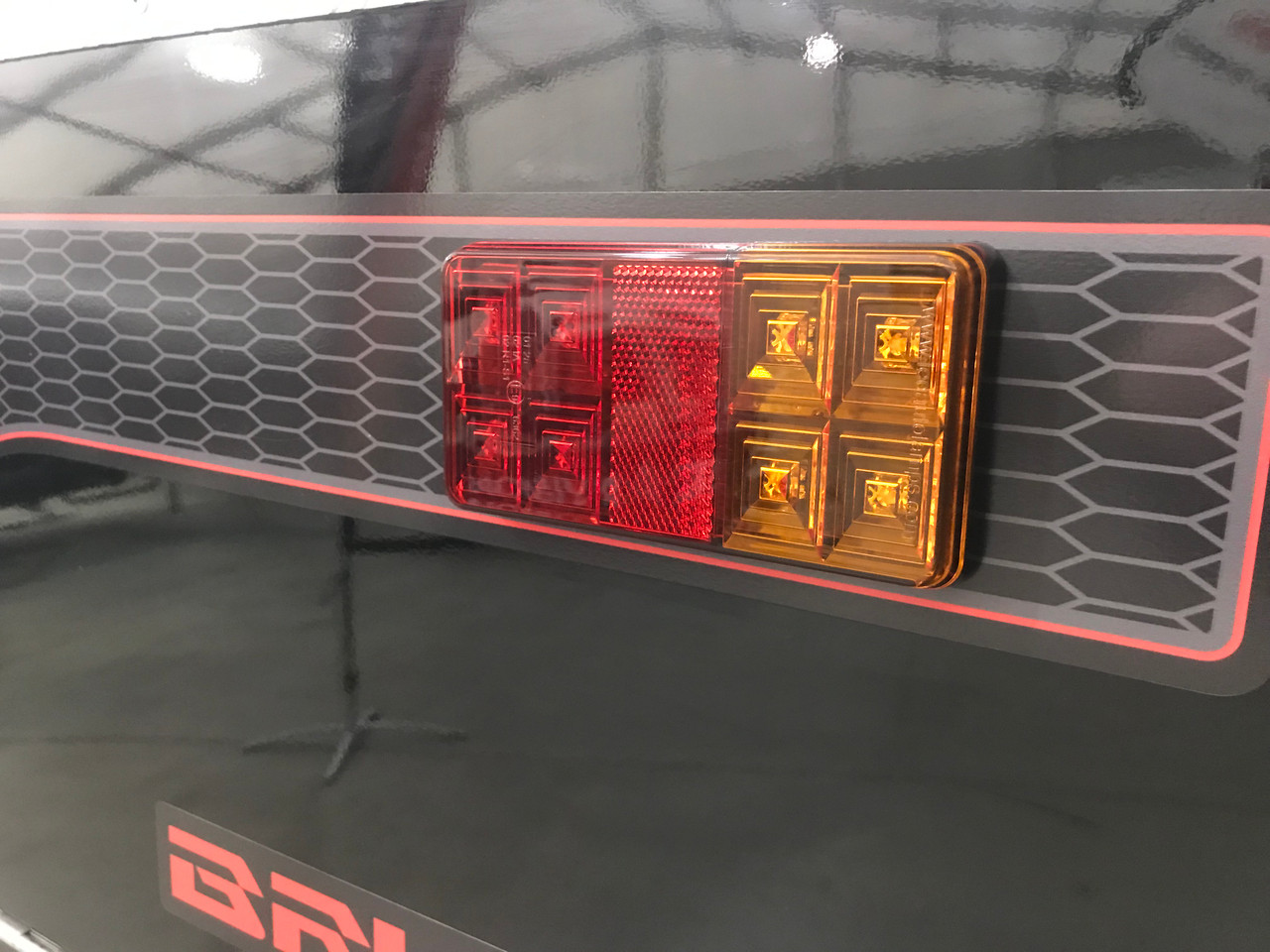 H155BARLP2/6 - Small Trailer Combination Tail Lights. Stop, Tail, Indicator Light, with Reflector and Licence Plate Light. 12v Blister Twin Pack 6M Trailer Kit. LED Auto Lamps. Ultimate LED.