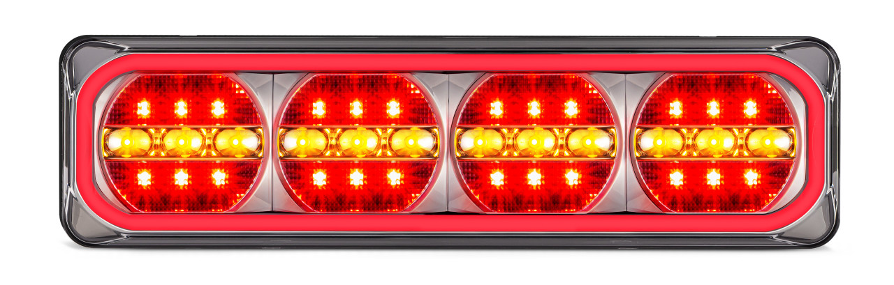 385ARRM-2 - Combination Tail Light. Medium Tray & Truck Series Light. Diffused Tail Function. Sequential Indicator. Clear Lens. Stop, Tail and Indicator Lights. Twin Pack. Multi-Volt 12v & 24v. Autolamp.  Ultimate LED.