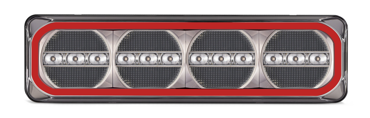 385ARWM-2 - Combination Tail Light. Medium Tray & Truck Series Light. Diffused Tail Function. Sequential Indicator. Clear Lens. Stop, Tail, Indicator and Reverse Lights. Twin Pack. Multi-Volt 12v & 24v. Autolamp.  Ultimate LED.