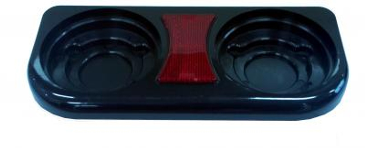 2 Gang Mounting Bracket to Suit: BR120 Series with Reflectors. Black Base. Dimensions: 267mm X 120mm X 45mm