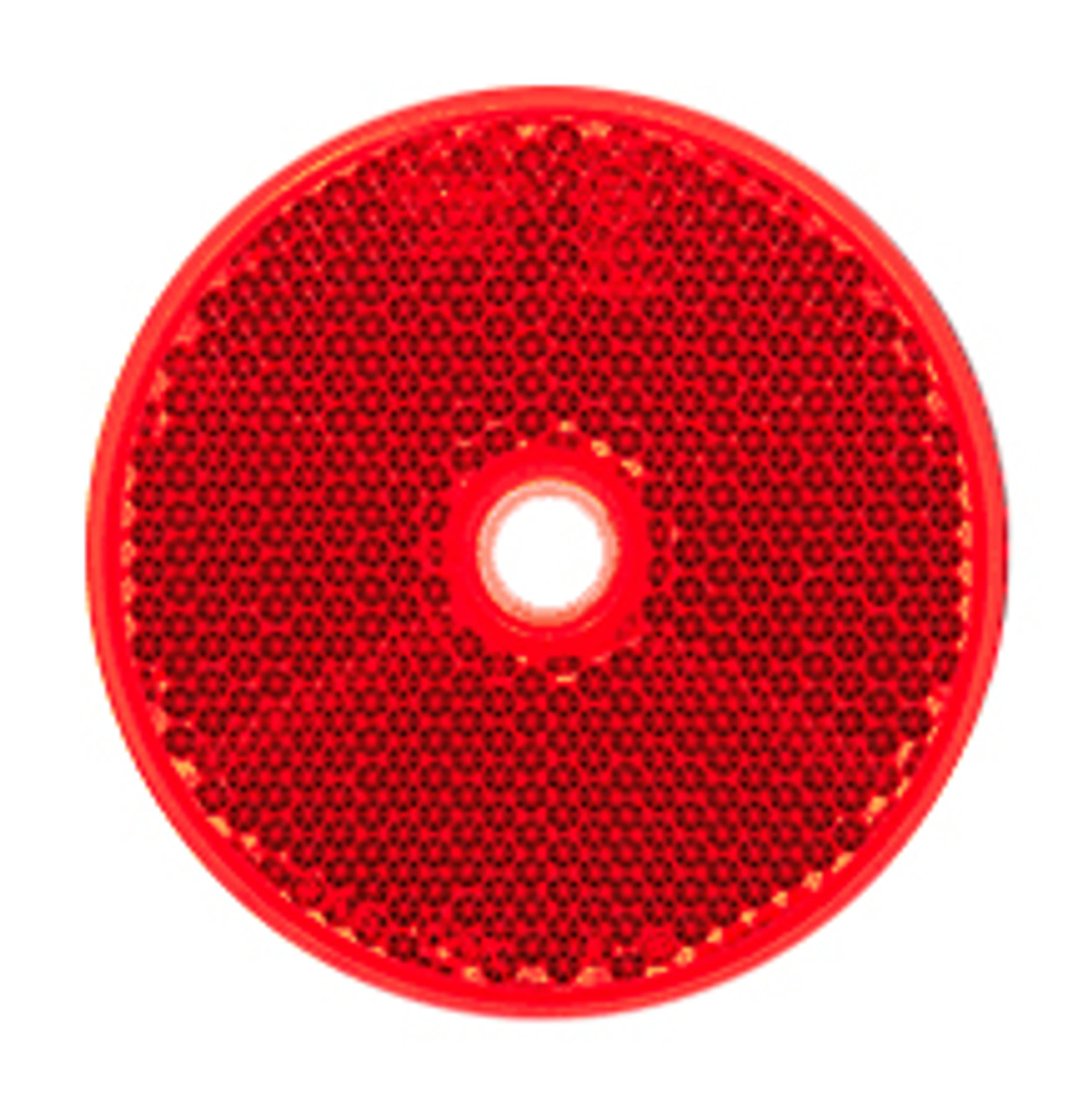 66R - Round Red Reflex Reflector. Low Profile Design. Screw Mount. Premium Quality. ECE Approved. Autolamp. Ultimate LED.