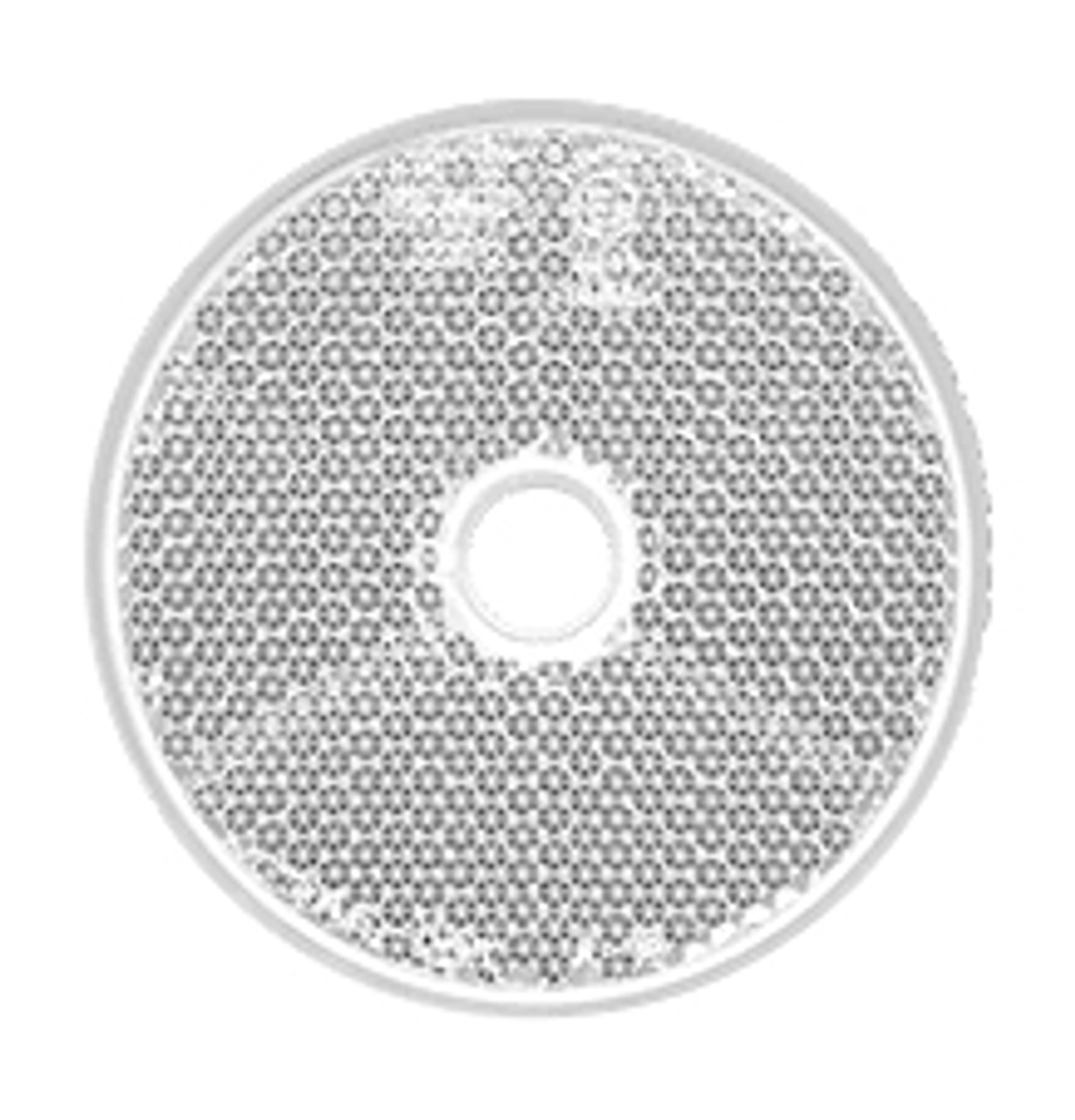 66W - Round White Reflex Reflector. Low Profile Design. Screw Mount. Premium Quality. ECE Approved. Autolamp.  Ultimate LED.
