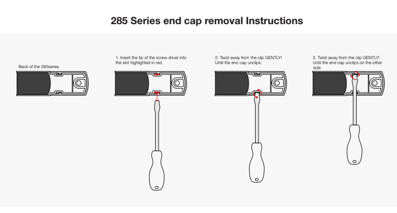 285CAT24 - Front Indicator Light. Low Profile Slimline Design. Screw Mount Clip On Caps. Chrome Caps. 24v Only. Autolamps. Ultimate LED.