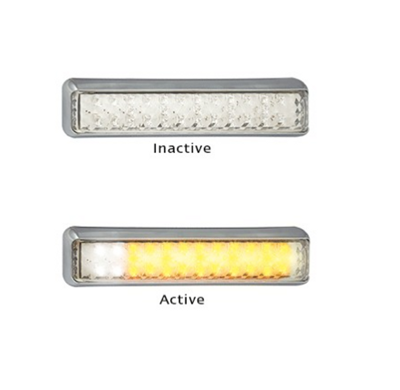 200CAW24 - Front Indicator Marker Lamp. 24v Only. Clear Lens & Amber and White LED. Shock, Dust and Waterproof. 5 Year Warranty. Single Pack. LED Auto Lamps. Ultimate LED.