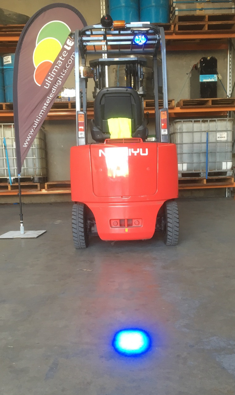 Blue Spot Forklift Workplace Light, Safety Light LED Spot Beam 8 Degree P/N: RVFBS