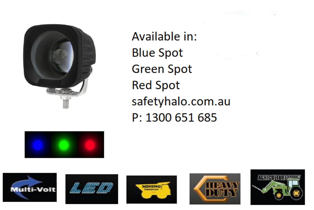 Red Workplace Red Awareness Beam, Safety Light LED Spot Beam 8 Degree P/N: FLRS-25 www.ultimateled.com.au